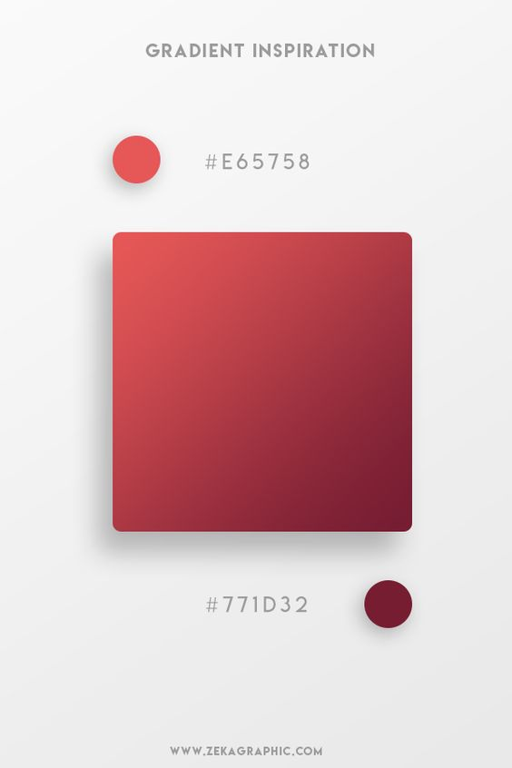 Beautiful Gradient Color Palettes - Red & Maroon