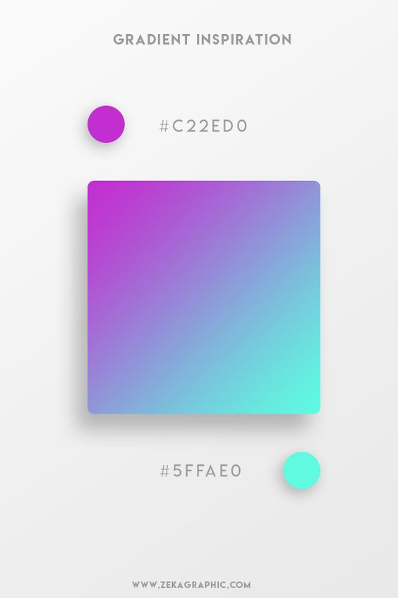 Beautiful Gradient Color Palettes - Purple & Green