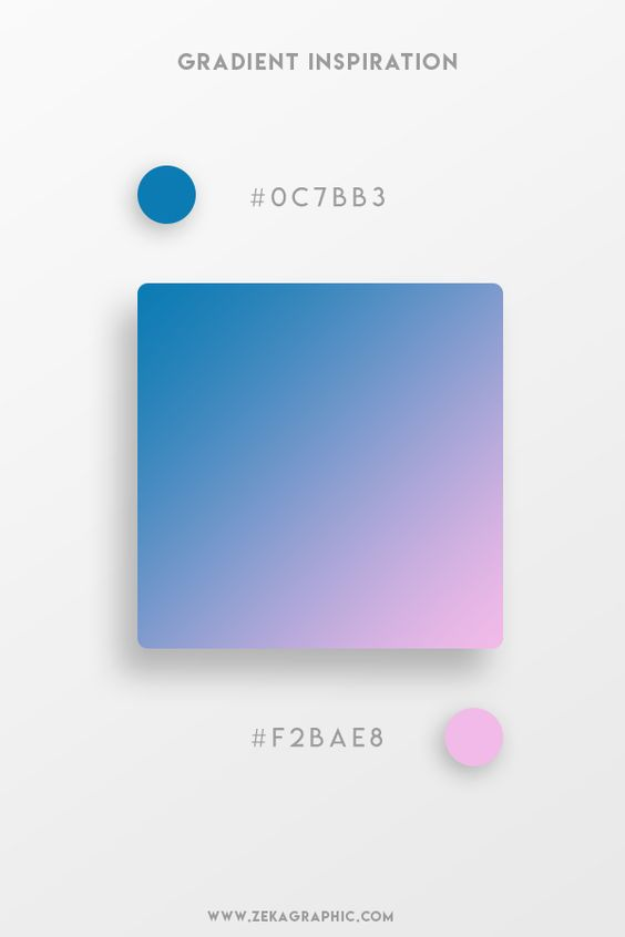 Beautiful Gradient Color Palettes - Blue & Pink