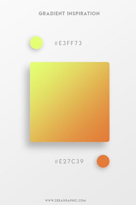 Beautiful Gradient Color Palettes - Yellow & Orange