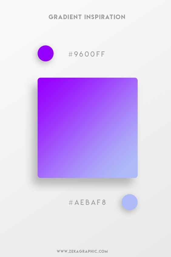 Beautiful Gradient Color Palettes - Purple & Lilac