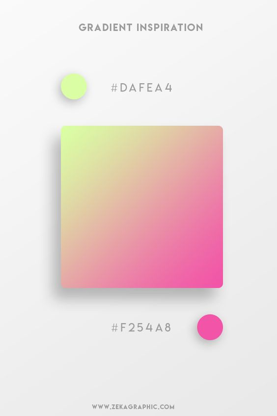 Beautiful Gradient Color Palettes - Fluorescent Green & Pink