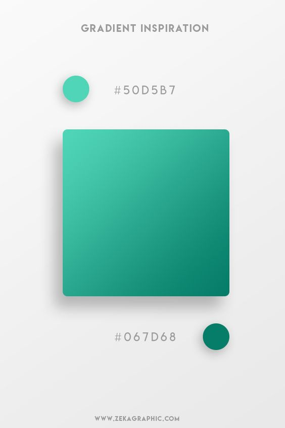 Beautiful Gradient Color Palettes - Green & Dark Green