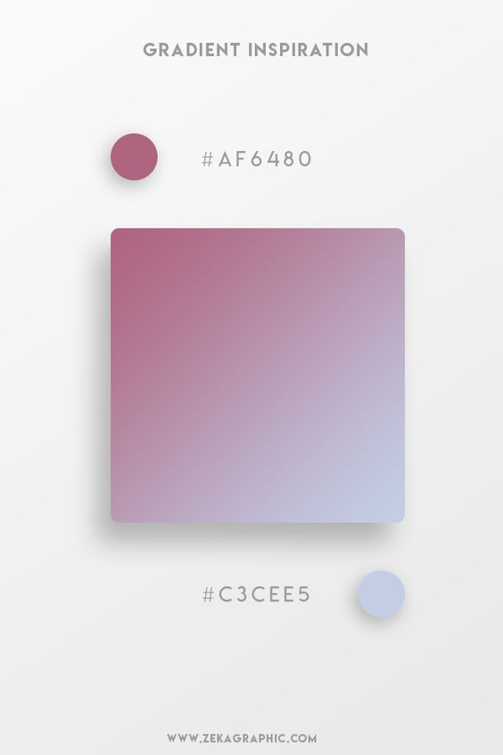 Beautiful Gradient Color Palettes - Purple & Blue