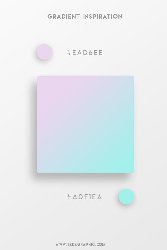 Beautiful Gradient Color Palettes - Lilac & Cyan