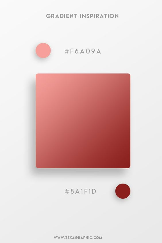 Beautiful Gradient Color Palettes - Pink & Maroon