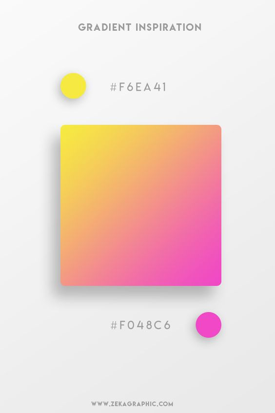Beautiful Gradient Color Palettes - Yellow & Pink