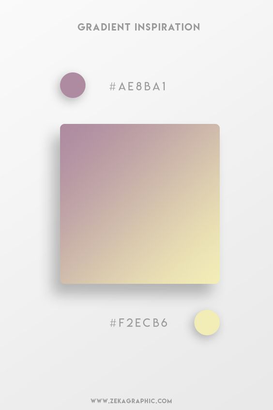 Beautiful Gradient Color Palettes - Purple & Yellow