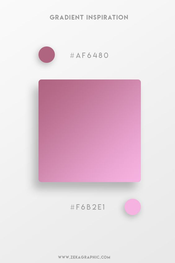 Beautiful Gradient Color Palettes - Purple & Pink