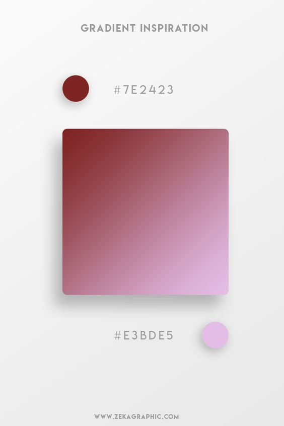 Beautiful Gradient Color Palettes - Maroon & Pink