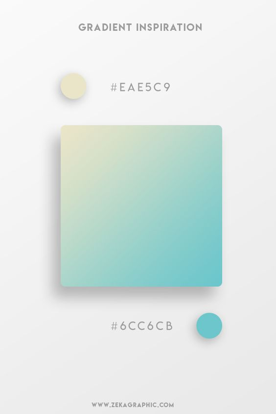 Beautiful Gradient Color Palettes - Beige & Teal