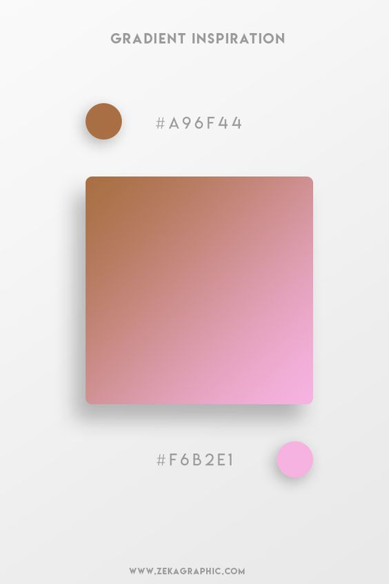 Beautiful Gradient Color Palettes - Brown & Pink
