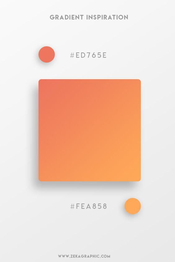 Beautiful Gradient Color Palettes - Orange & Light Orange