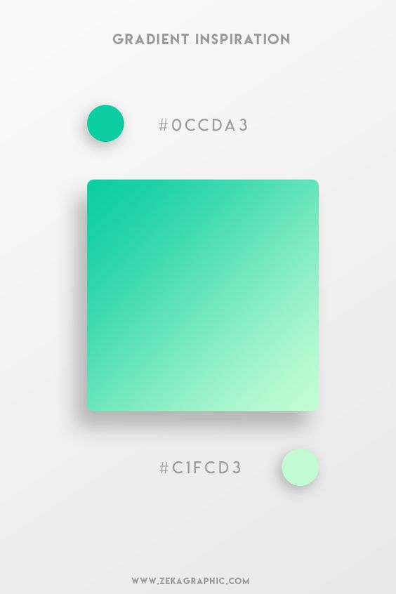 Beautiful Gradient Color Palettes - Green & Light Green
