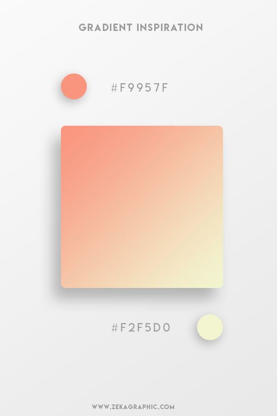Beautiful Gradient Color Palettes - Orange & Yellow