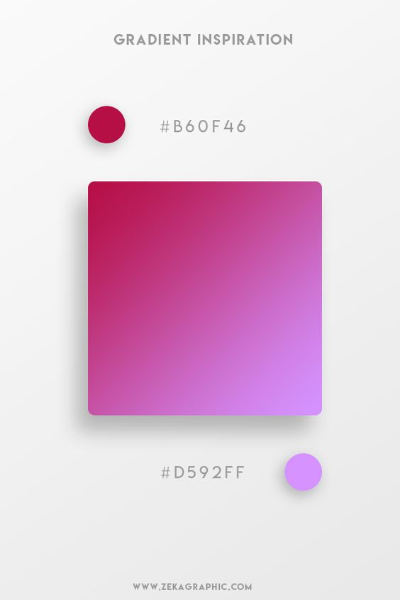 Beautiful Gradient Color Palettes - Maroon & Purple