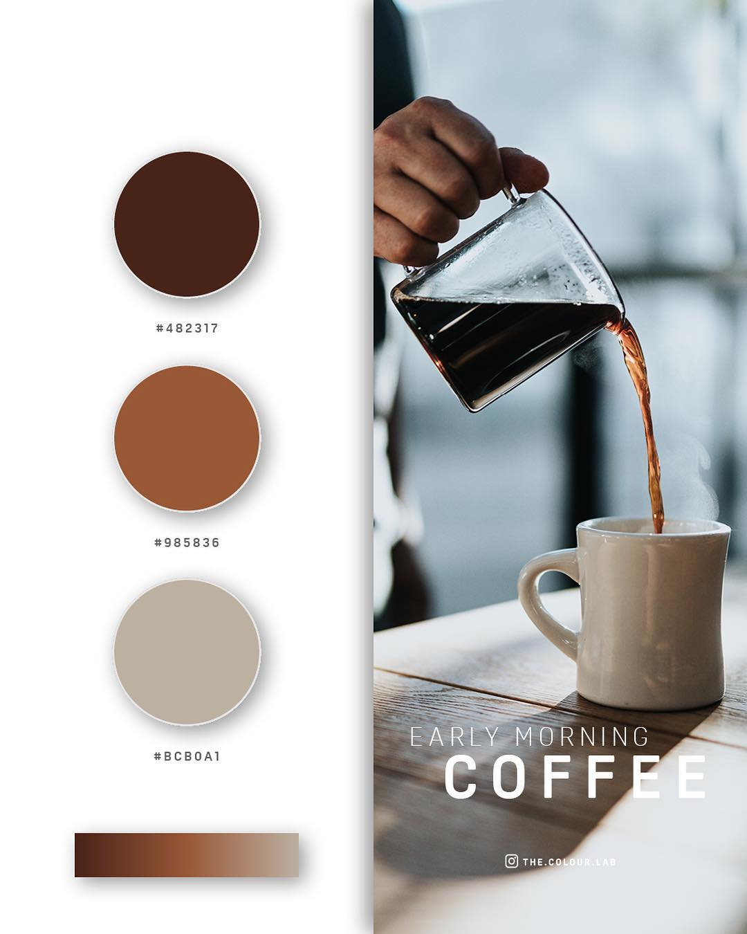 Coffee, brown color palettes, schemes & combinations