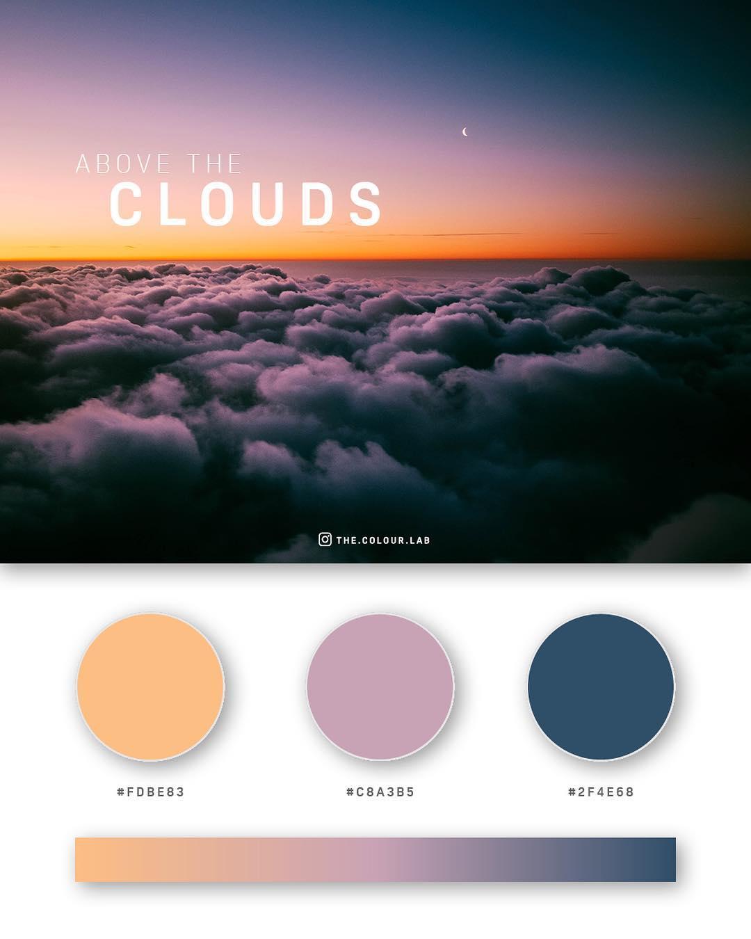 Orange, pink, blue color palettes, schemes & combinations