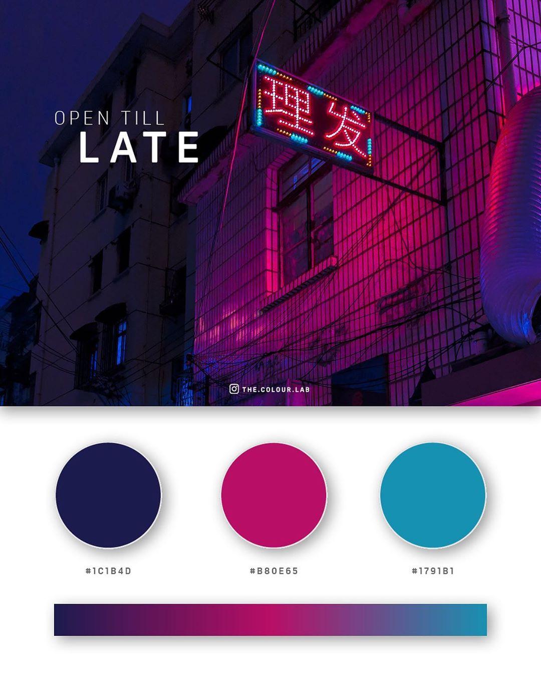 Blue, pink color palettes, schemes & combinations