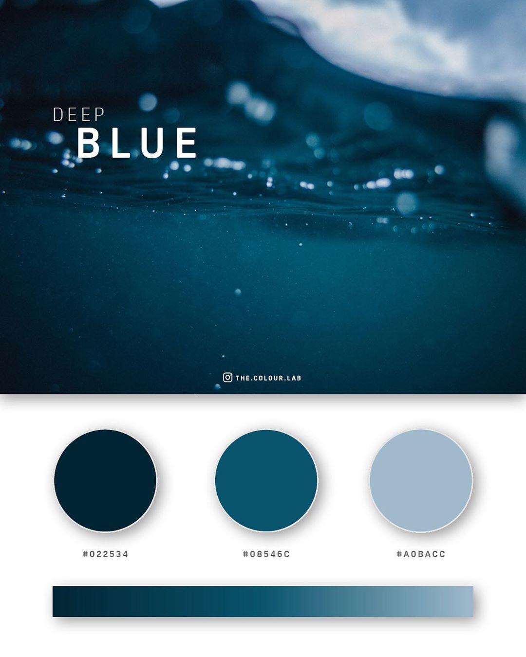 Blue color palettes, schemes & combinations