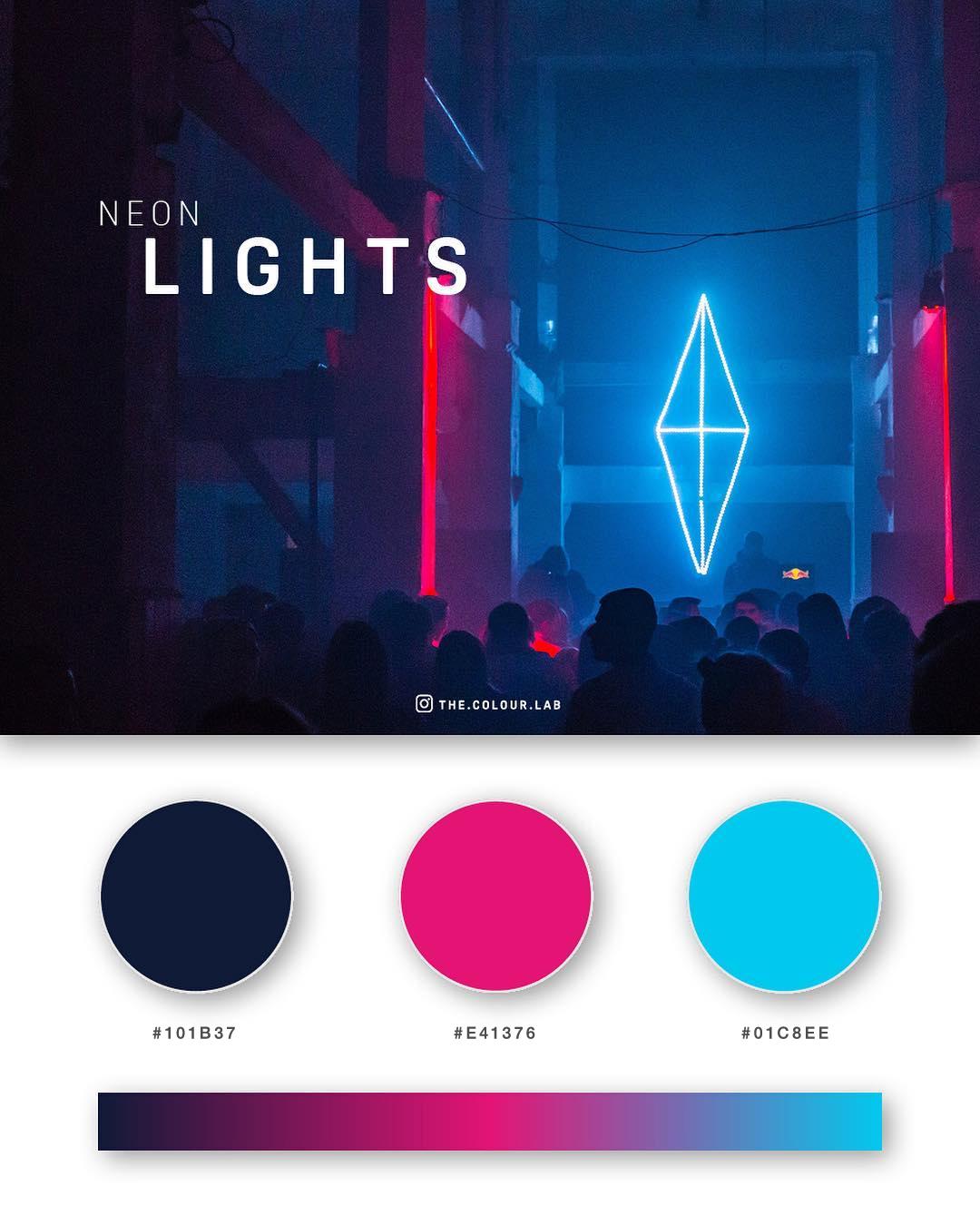 Blue, pink, cyan color palettes, schemes & combinations