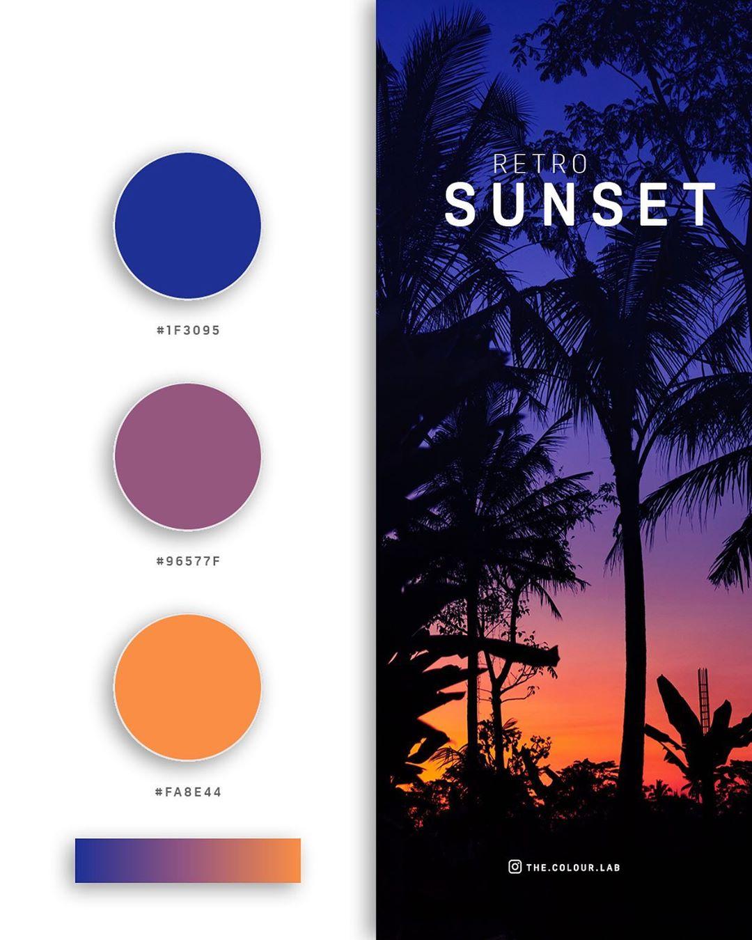 Blue, orange color palettes, schemes & combinations