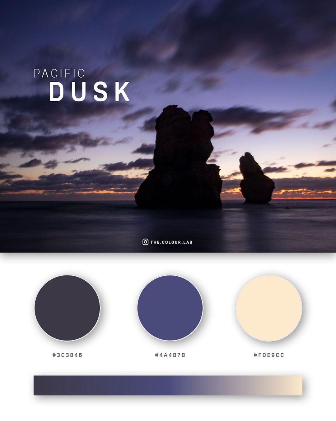 Blue, purple color palettes, schemes & combinations