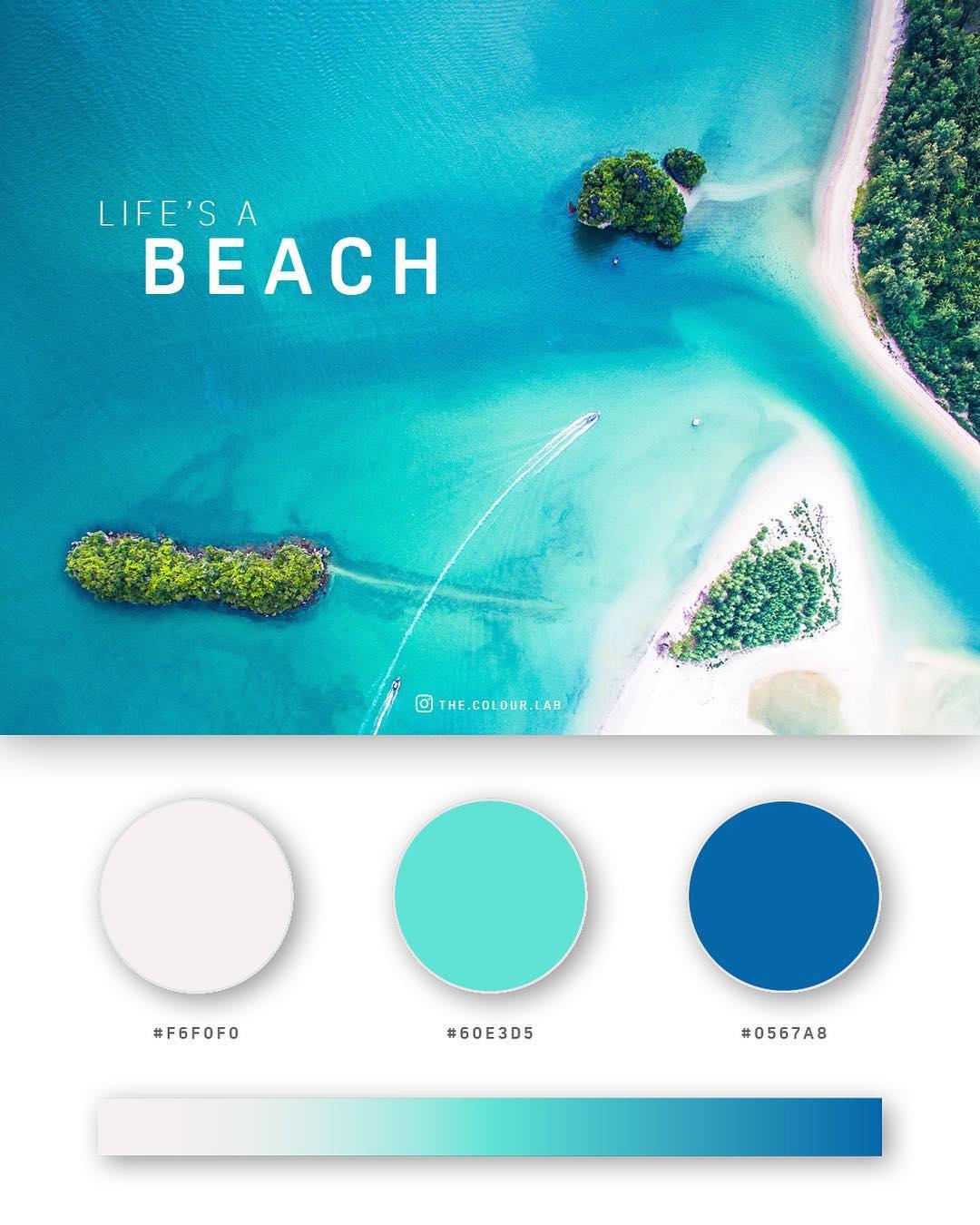 Cyan, blue color palettes, schemes & combinations