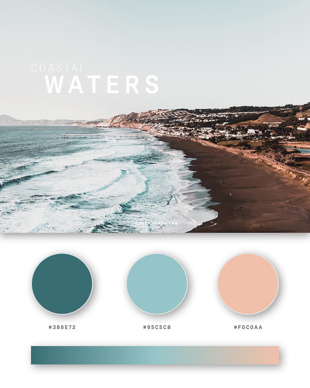 Green, blue color palettes, schemes & combinations