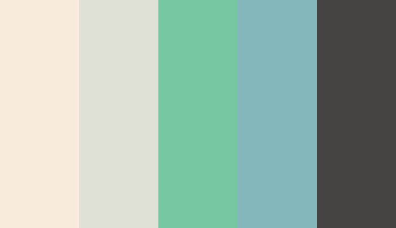 Logo color combinations - Tan, green, and blue
