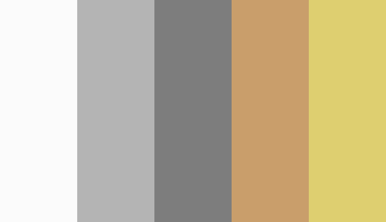 Logo color combinations - Grey, tan, and gold