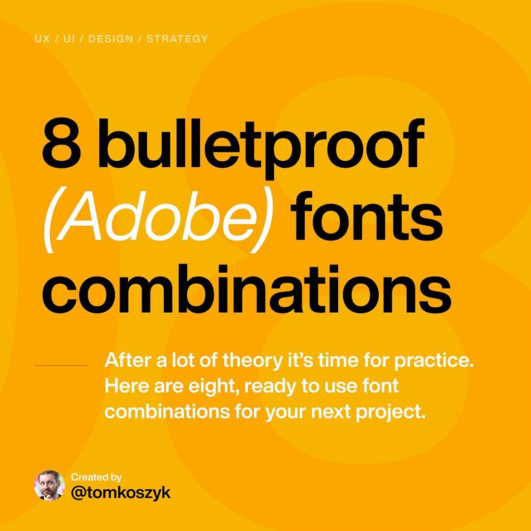 Best Adobe Font Combinations
