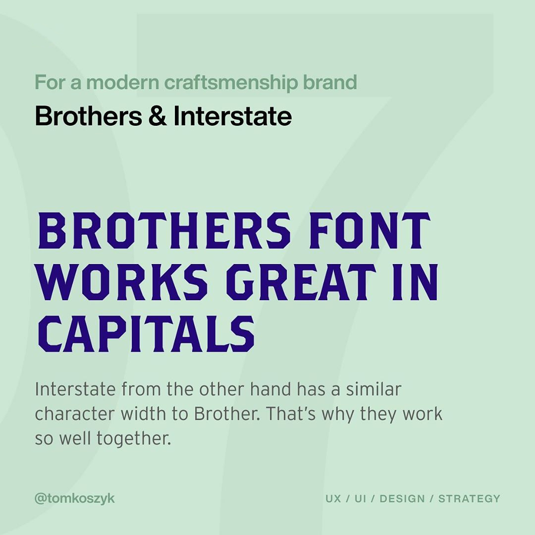 Best Adobe Font Combinations - Brothers & Interstate