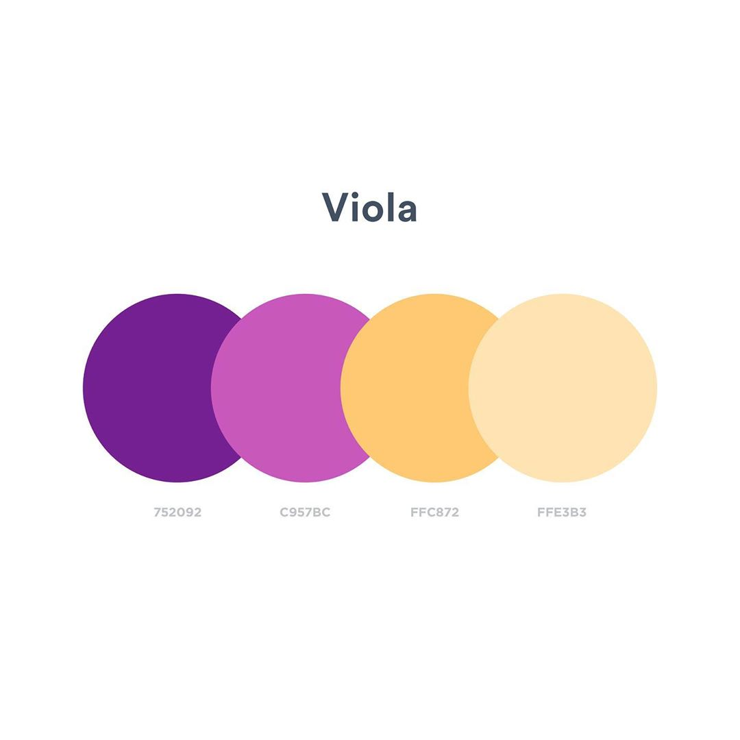 Color schemes, palettes, combinations - Purple, Yellow, Orange