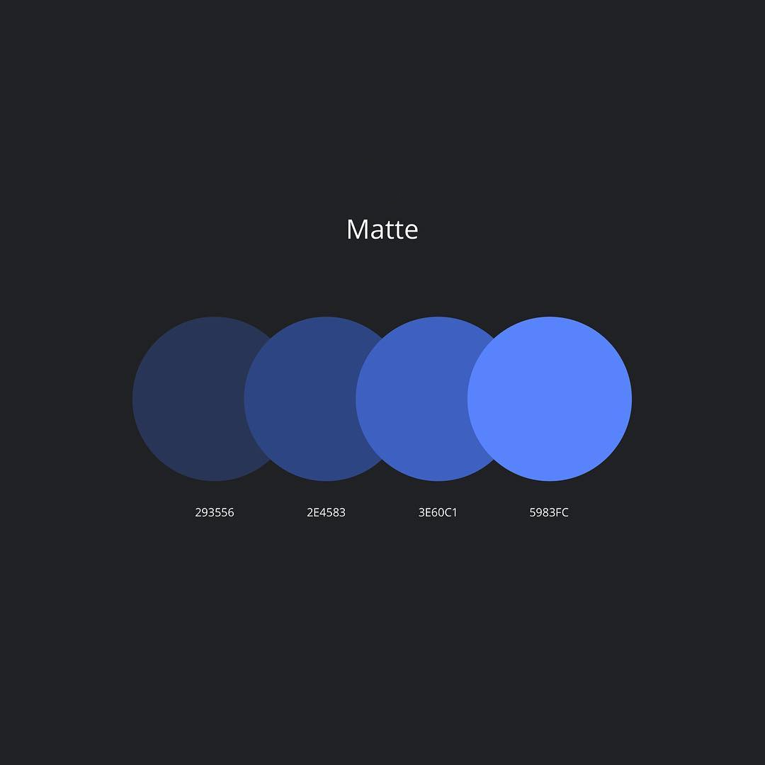 Color schemes, palettes, combinations - Blue