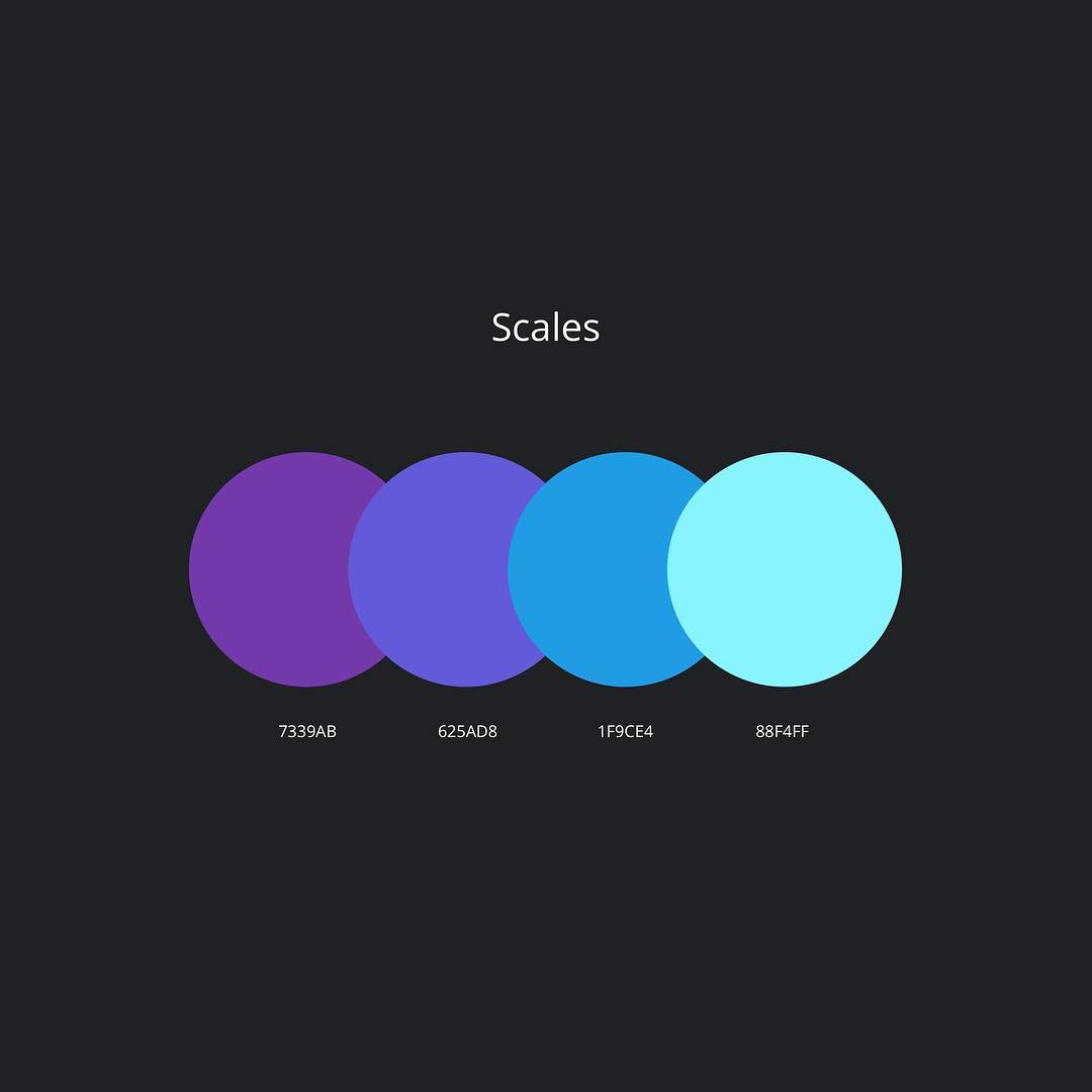 Color schemes, palettes, combinations - Purple, blue, green