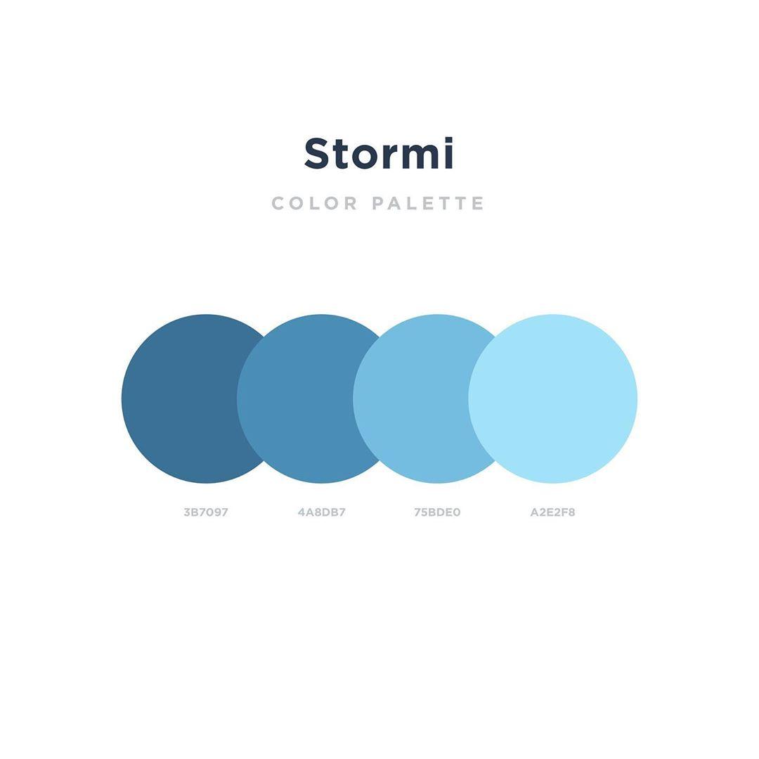 Color schemes, palettes, combinations - Blue