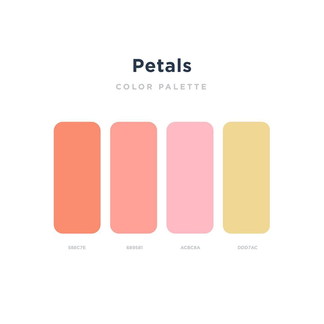 Color schemes, palettes, combinations - Orange, pink, yellow