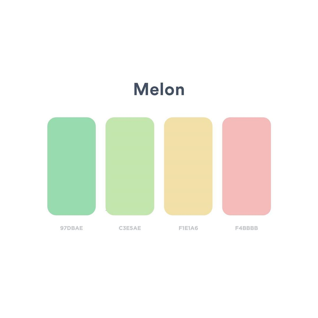 Color schemes, palettes, combinations - Green, yellow, pink
