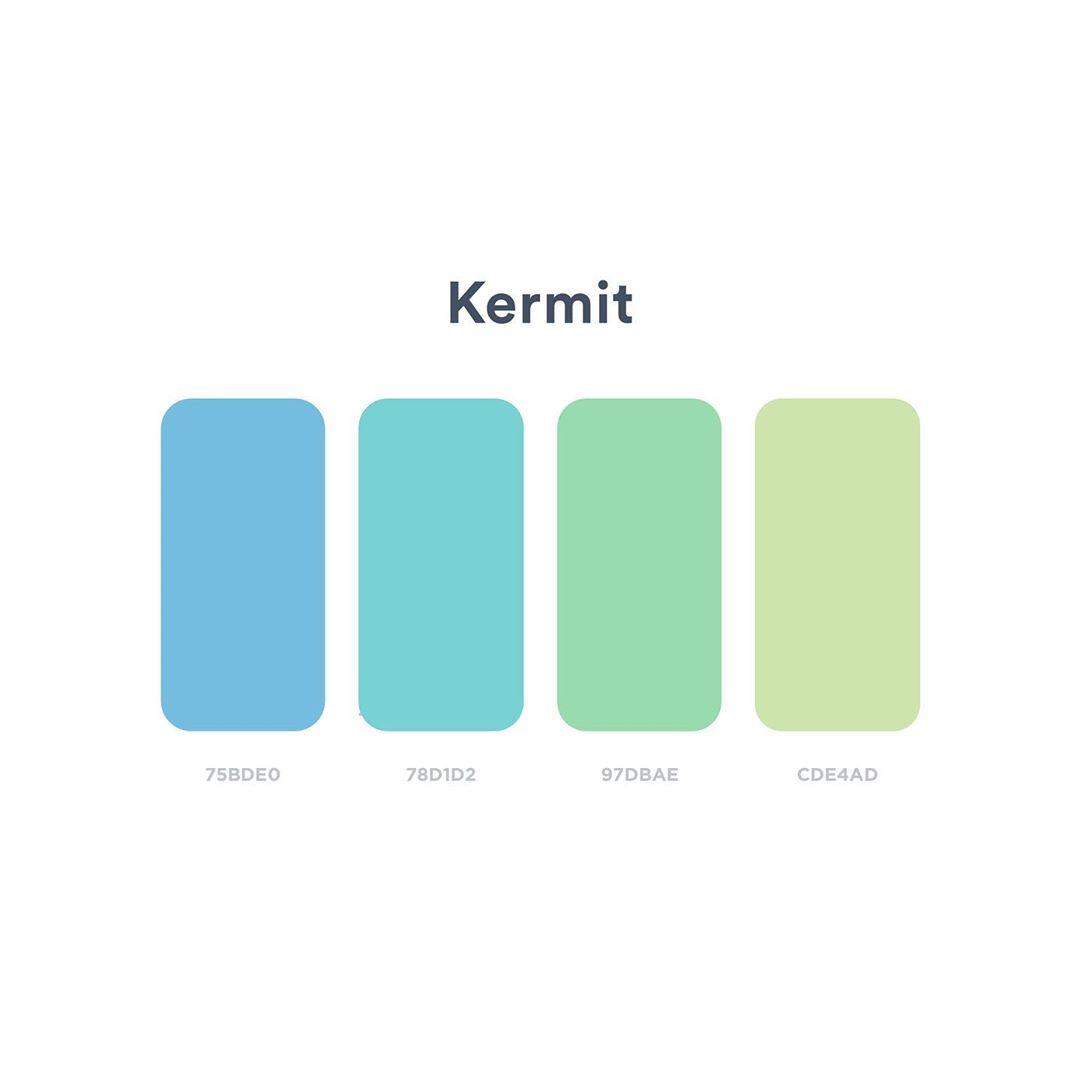Color schemes, palettes, combinations - Blue, green