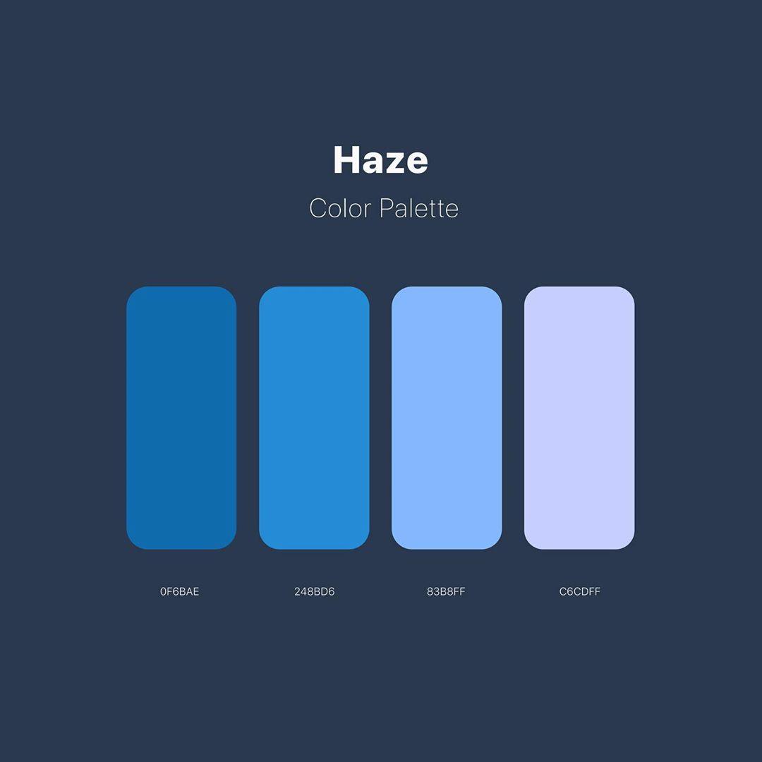 Color schemes, palettes, combinations - Blue, grey