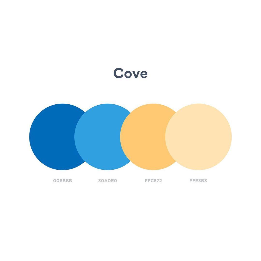 Color schemes, palettes, combinations - Blue, yellow, orange