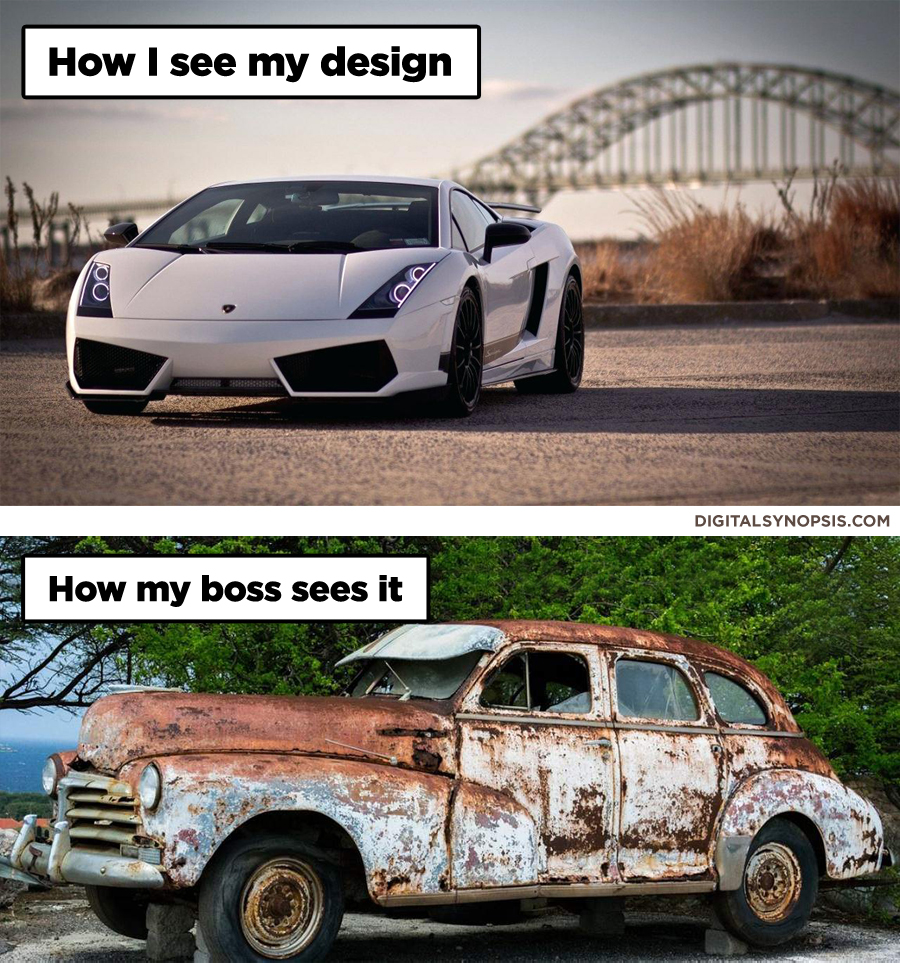 How I see my design vs. How my boss sees it