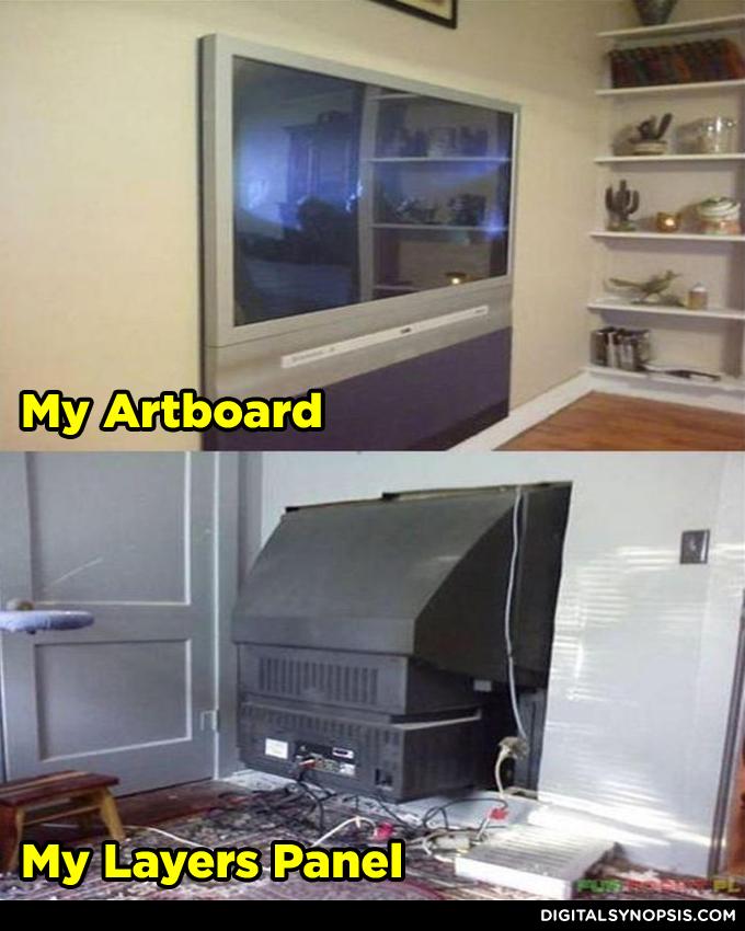 My Artboard vs. My Layers Panel