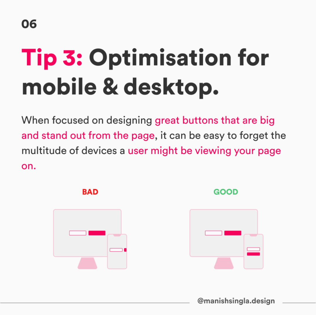 Tip 3: Optimisation for mobile & desktop