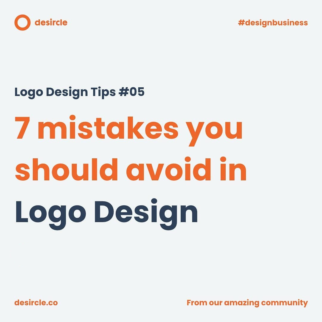 7 Mistakes You Should Avoid In Logo Design