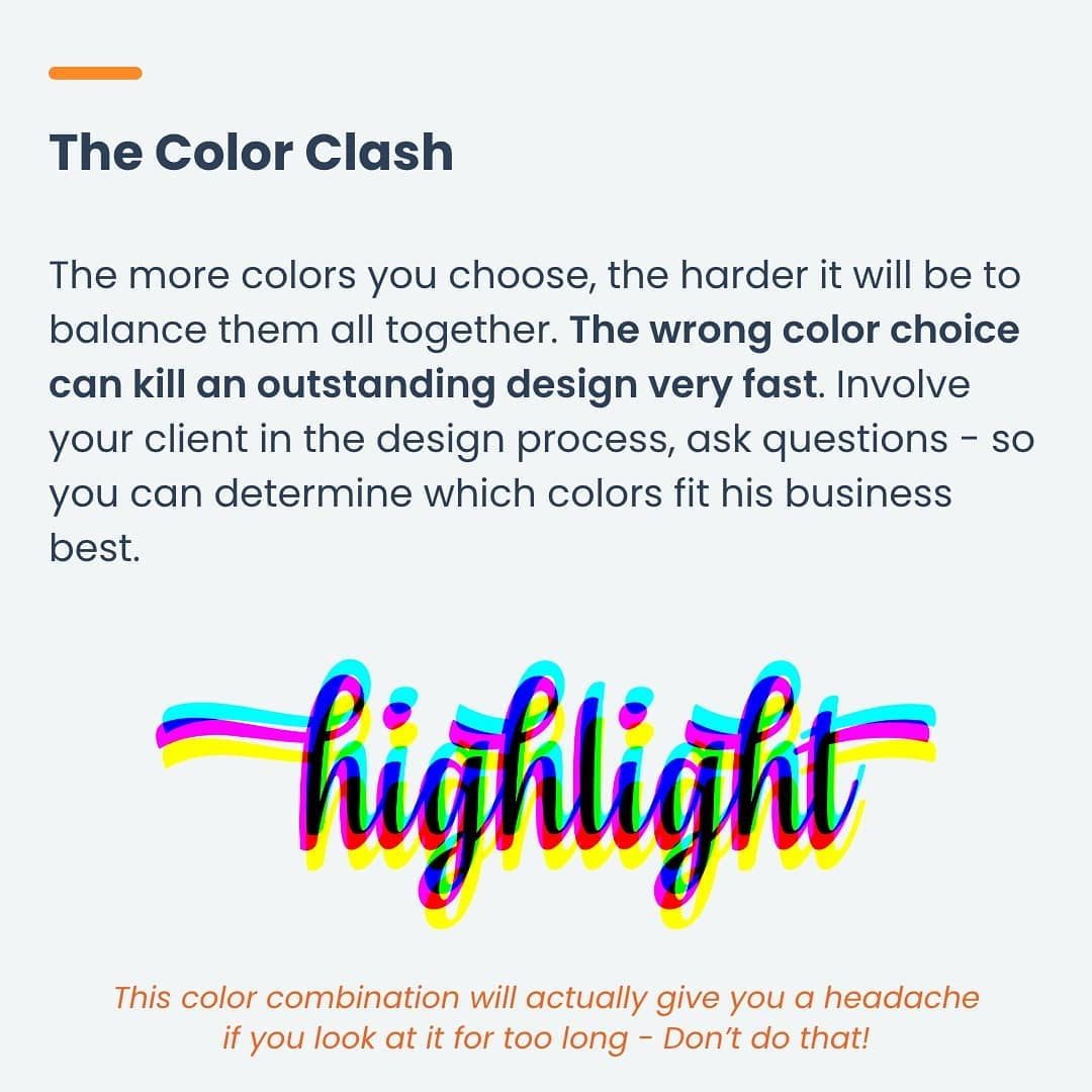 Mistake 3 - The Color Clash