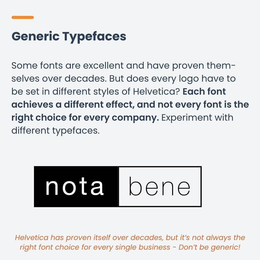 Mistake 4 - Generic typefaces
