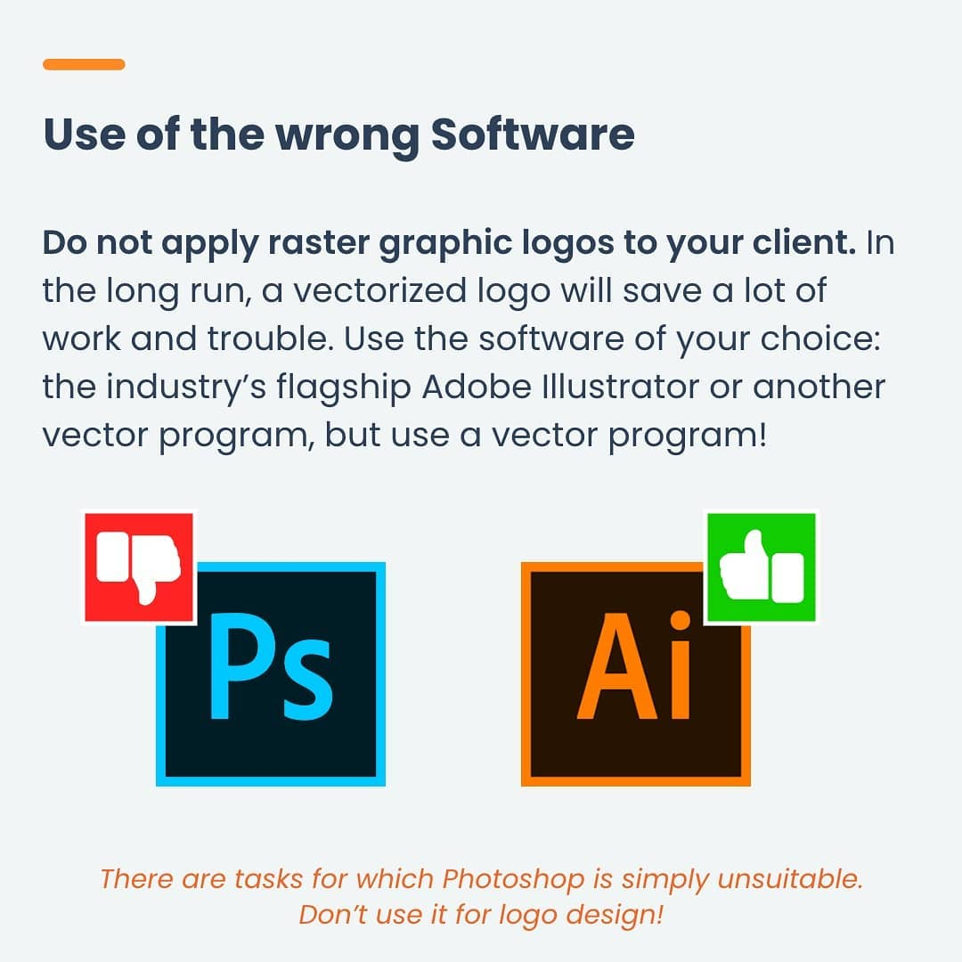 Mistake 7 - Use of the wrong software