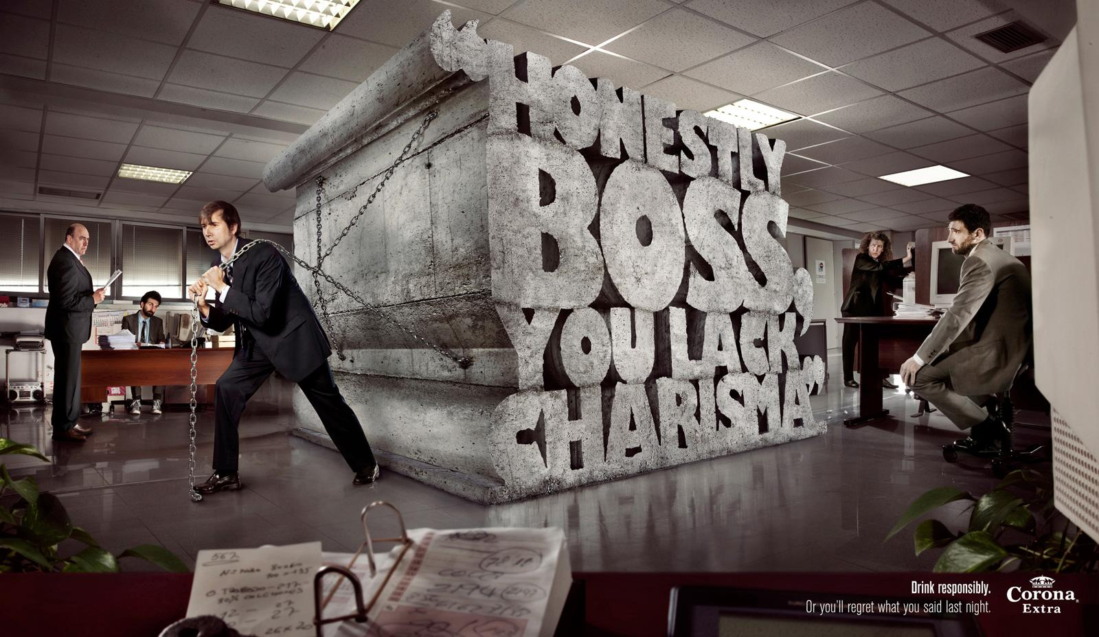 Creative Typography Ads - Corona Extra: Boss